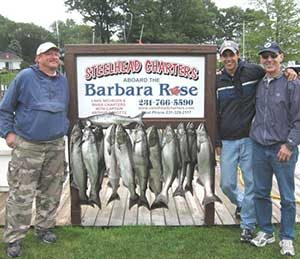 May-June Lake Michigan Salmon Fishing