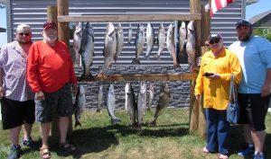 Lake Michigan Salmon fishing 8/3/18